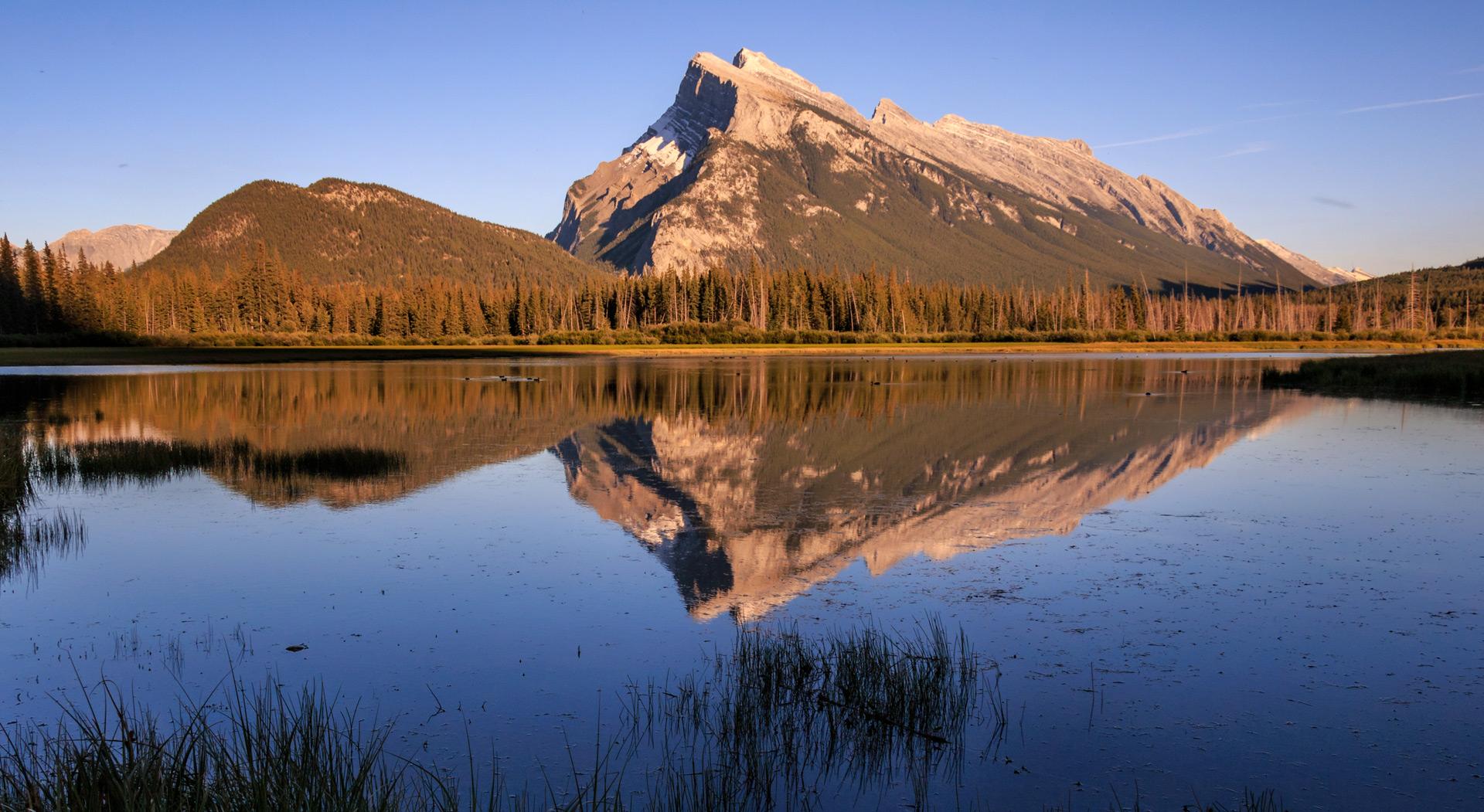 Reflection at Vermillion lakes, Banff