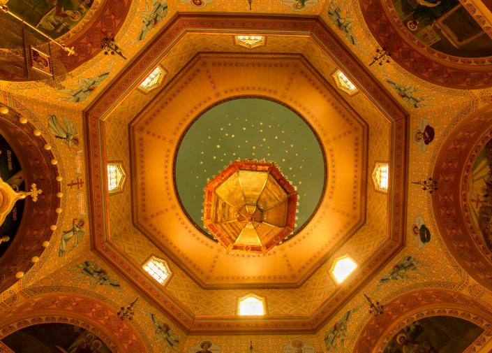 Magnificent roof of Holy Trinity Cathedral,Chicago