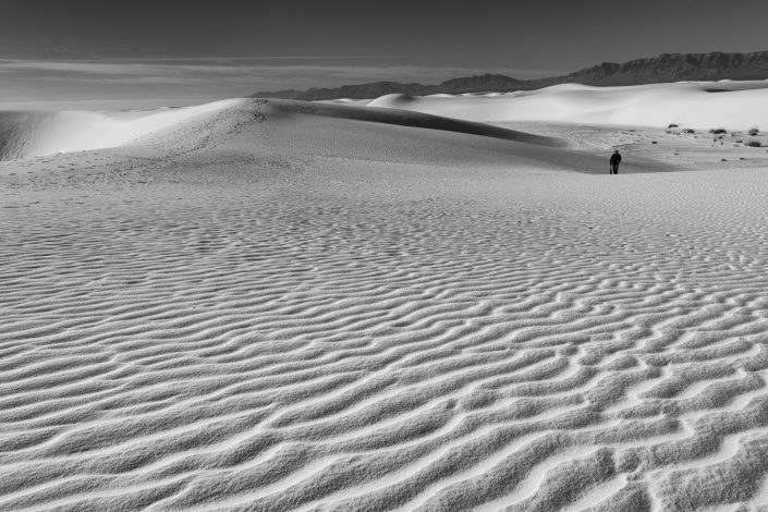Patterns in the sand, White Sands, New Mexico