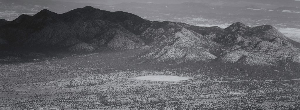 View from Sandia Peak tramway, notice the peculiar desert landscape?
