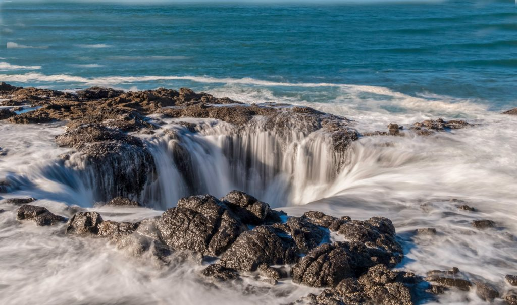 Thor's Well- it fills and empties wave after wave