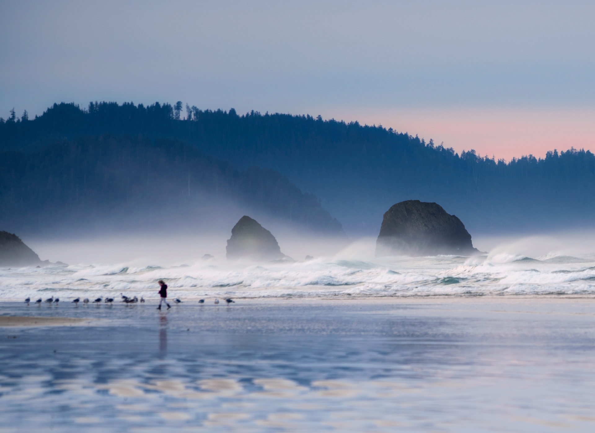 A walk in the mist, Cannon Beach OR